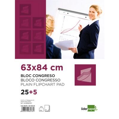 BLOC CONGRESOS LIDERPAPEL LISO 63X84